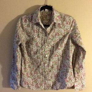 J.crew floral button down shirt size small